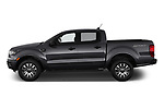 Car Driver side profile view of a 2019 Ford Ranger XLT 4 Door Pick-up Side View