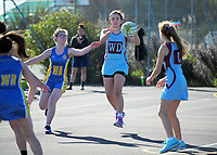 Senior A netball. Kuranui College v Tararua College Sports Exchange at Kuranui College in Greytown, Wairarapa, New Zealand on Friday, 11 August 2017. Photo: Dave Lintott / lintottphoto.co.nz