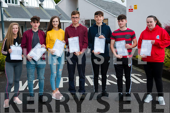 Pictured receiving their leaving cert results at Kenmare's<br /> Pobalscoil Inbhear Sc&eacute;ine were L-R Ciara Cronin, Dion Burke, Keely Randles,Mark Riordan, Jordan Schmidith, Micheal McMarthy, Joanne McCarthy.