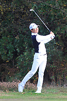 Jeunghun Wang (KOR) on the 2nd fairway during Round 3 of the Sky Sports British Masters at Walton Heath Golf Club in Tadworth, Surrey, England on Saturday 13th Oct 2018.<br /> Picture:  Thos Caffrey | Golffile