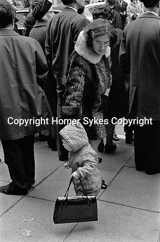 Mother and child St Patricks day Parade London 1970.