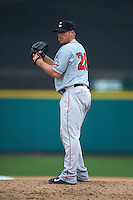 Pawtucket Red Sox pitcher Jess Todd (28) gets ready to deliver a pitch during a game against the Rochester Red Wings on July 1, 2015 at Frontier Field in Rochester, New York.  Rochester defeated Pawtucket 8-4.  (Mike Janes/Four Seam Images)