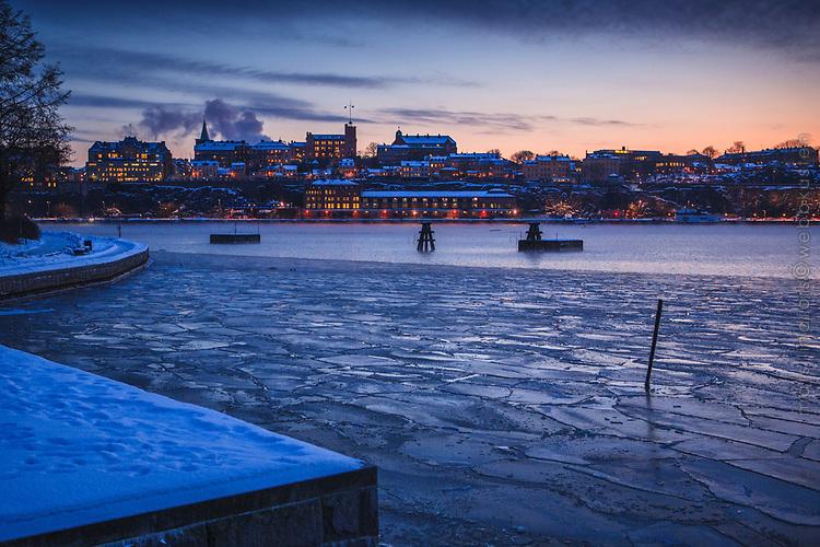 Mycket kyligt vid Skeppsholmen i Stockholm