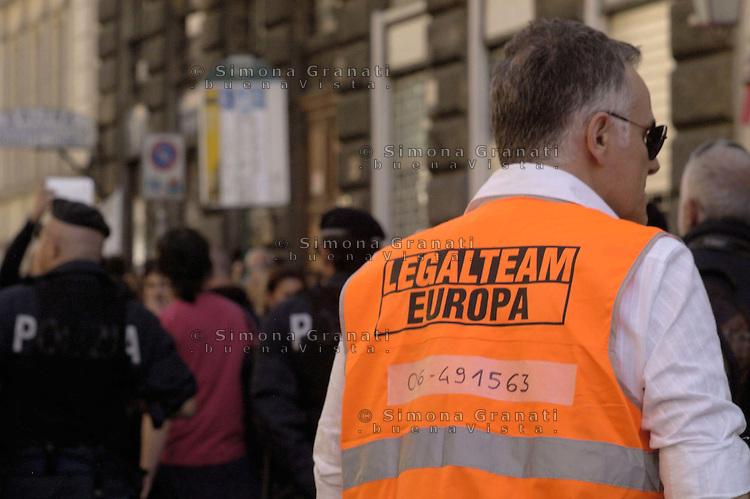 Roma,15 Ottobre 2011.Manifestazione contro la crisi e l'austerità..Legal team, avvocati in corteo