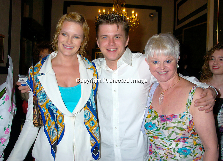 "Nicholle, David and Marie Tom ..at The Broadway opening of ""Prymate"" on May 5, 2004 ..starring Heather Tom, Phyllis Frelich, Andre De Shields and ..James Naughton at the Longacre Theatre in New YOrk City. ..Photo by Robin Platzer, Twin Images"