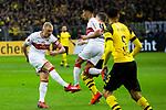 09.03.2019, Signal Iduna Park, Dortmund, GER, 1.FBL, Borussia Dortmund vs VfB Stuttgart, DFL REGULATIONS PROHIBIT ANY USE OF PHOTOGRAPHS AS IMAGE SEQUENCES AND/OR QUASI-VIDEO<br /> <br /> im Bild   picture shows:<br /> Torschuss Andreas Beck (VfB Stuttgart #32), <br /> <br /> Foto &copy; nordphoto / Rauch