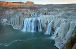 Idaho, South Central, Twin Falls, Shoshone Falls State Park. Shoshone Falls at low flow.