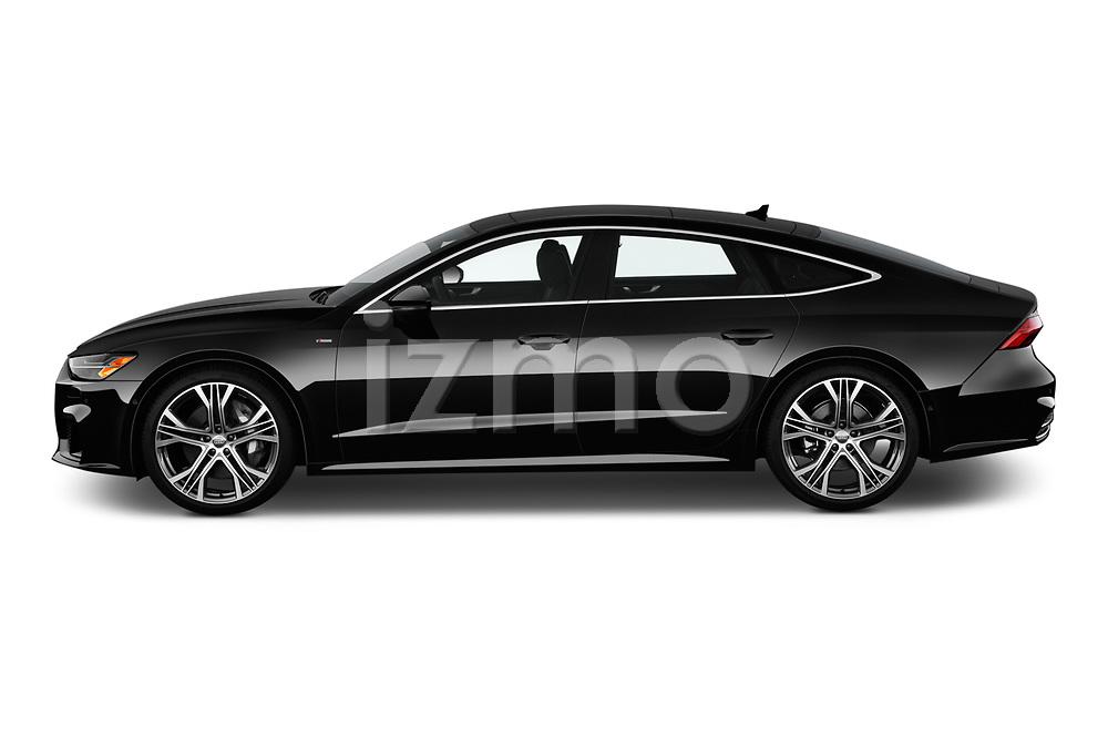 Car driver side profile view of a 2019 Audi A7 Prestige 5 Door Hatchback