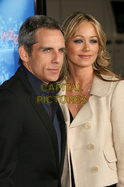 "BEN STILLER & CHRISTINE TAYLOR.Attending ""Blades of Glory"" Los Angeles Premiere at Grauman's Chinese Theatre, Hollywood, California.28 March 2007..half length married husband wife.CAP/ADM/BP.©Byron Purvis/AdMedia/Capital Pictures."
