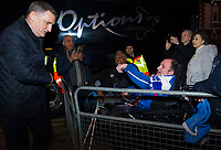 Blackburn Rovers manager Tony Mowbray greets supporters outside Craven Cottage<br /> <br /> Photographer /Ashley WesternCameraSport<br /> <br /> The EFL Sky Bet Championship - Fulham v Blackburn Rovers - Tuesday 14th March 2017 - Craven Cottage - London<br /> <br /> World Copyright &copy; 2017 CameraSport. All rights reserved. 43 Linden Ave. Countesthorpe. Leicester. England. LE8 5PG - Tel: +44 (0) 116 277 4147 - admin@camerasport.com - www.camerasport.com
