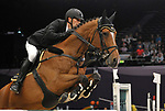 "Karel Cox (BEL) riding ""Kill Bill Max"". International showjumping. Grandstand welcome stakes. Horse of the year show (HOYS). National Exhibition Centre (NEC). Birmingham. UK. 05/10/2018. ~ MANDATORY CREDIT Garry Bowden/SIPPA - NO UNAUTHORISED USE - +44 7837 394578"