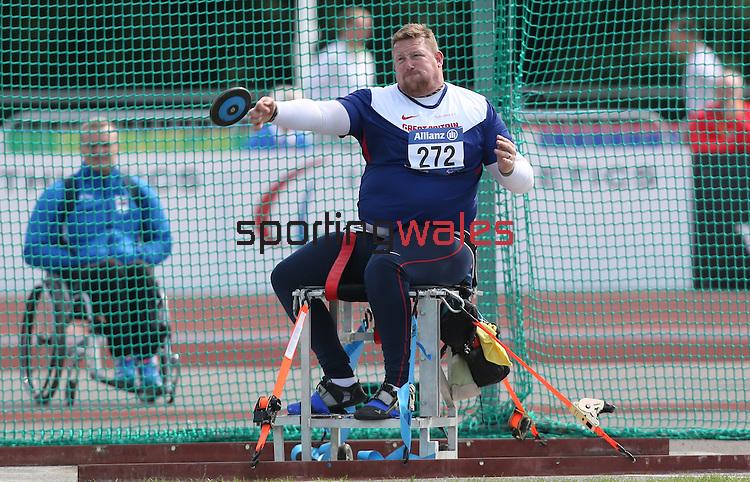 IPC European Athletics Championship 2014<br /> Robin Womack GBR<br /> Men's Discus F56<br /> Swansea University<br /> 20.08.14<br /> &copy;Steve Pope-SPORTINGWALES
