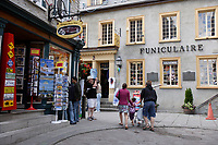 Quebec (QC) CANADA - Sept 5 2009 - - funiculaire in Le petit champlain