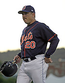 September 2, 2004:  Coach Howard Johnson of the Binghamton Mets, Eastern League (AA) affiliate of the New York Mets, during a game at NYSEG Stadium in Binghamton, NY.  Photo by:  Mike Janes/Four Seam Images