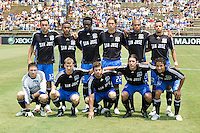27 July 2008:  New York Red Bulls starting line up before the game against the Earthquakes at Buck Shaw Stadium in Santa Clara, California.   San Jose Earthquakes tied New York Red Bulls, 1-1.