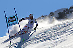 Alpine Ski World Cup Opening. Stefan Luitz in action at the Men's Giant Slalom in Solden on October 23, 2016. French Alexis Pinturault is leading ahead of Austrian Marcel Hirscher's after the first run.