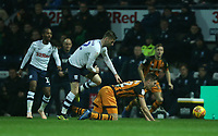 Preston North End's Paul Gallagher clashes with Hull City's Markus Henriksen<br /> <br /> Photographer Stephen White/CameraSport<br /> <br /> The EFL Sky Bet Championship - Preston North End v Hull City - Wednesday 26th December 2018 - Deepdale Stadium - Preston<br /> <br /> World Copyright &copy; 2018 CameraSport. All rights reserved. 43 Linden Ave. Countesthorpe. Leicester. England. LE8 5PG - Tel: +44 (0) 116 277 4147 - admin@camerasport.com - www.camerasport.com