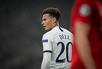 Dele Alli of Spurs during the UEFA Champions League group match between Tottenham Hotspur and Bayern Munich at Wembley Stadium, London, England on 1 October 2019. Photo by Andy Rowland.