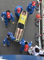 BOGOTÁ -COLOMBIA. 28-07-2013. Aspecto de los participantes en la Media Maratón de Bogotá 2013. En esta ocasión Geoffrey Kipsang (Kenia) fue el ganador con un tiempo de 1.03:46 y en mujeres Priscah Jeptoo (Kenia)con un ntiempo de 1.12:24. / Aspect of the people during the Half Marathon of Bogota. In this edition Geoffrey Kipsang (Kenya) with a time of 1.03:46 and in women the winner  was Priscah Jeptoo (Kenya) with a time of 1.12:24. Photo: VizzorImage / Str