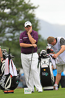Shane Lowry (IRL) waits to tee off on the 11th tee during Day 1 Thursday of The Irish Open presented by Discover Ireland at Killarney Golf & Fishing Club on 28th July 2011 (Photo Jenny Matthews/www.golffile.ie)