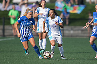 Allston, MA - Saturday August 19, 2017: Rosie White, Marta Vieira Da Silva during a regular season National Women's Soccer League (NWSL) match between the Boston Breakers and the Orlando Pride at Jordan Field.