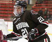 Davey Middleton (Brown - 21) - The Harvard University Crimson defeated the Brown University Bears 4-3 to sweep their first round match up in the ECAC playoffs on Saturday, March 7, 2015, at Bright-Landry Hockey Center in Cambridge, Massachusetts.