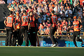 8th January 2018, The WACA, Perth, Australia; Australian Big Bash Cricket, Perth Scorchers versus Melbourne Renegades; Perth Scorchers players celebrate the wicket of Aaron Finch for 2 during the Renegades innings