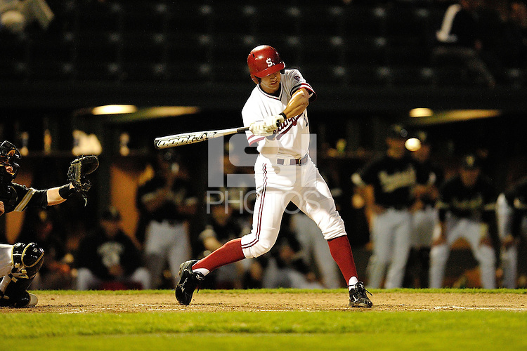 STANFORD, CA - FEBRUARY 17, 2012:  Stanford Baseball faces off against Vanderbilt University on February 17, 2012 at Sunken Diamond.  Stanford won, 8-3.
