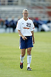 19 June 2004: Heather Mitts. The Washington Freedom tied the Boston Breakers 3-3 at the National Sports Center in Blaine, MN in Womens United Soccer Association soccer game featuring guest players from other teams.