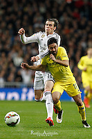 Real Madrid´s Welsh forward Gareth Bale and Villareal´s J. Costa