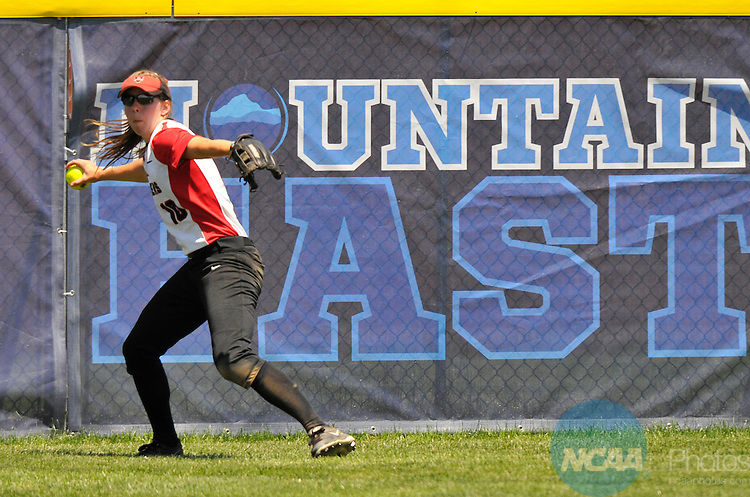 26 MAY 2014: Center fielder Courtney Albritton(11) of Valdosta State catches a pop up during the Division II Women's Softball Championship held at the Moyer Sports Complex in Salem, VA.  West Texas defeated Valdosta State 3-2 for the national title.  Andres Alonso/NCAA Photos
