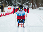 Prince George, B.-C., 17 February/2019 -  Yves Bourque competes in the men's 7.5km Cross Country Sitting event at the 2019 World Para Nordic skiing Championships in Prince George, B.C. Photo Bob Frid/Canadian Paralympic Committee.