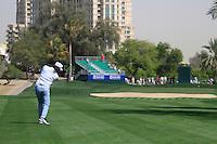 Johan Edfors (SWE) plays his 2nd shot on the 14th hole during Saturday's  Round 3 of the 2012 Omega Dubai Desert Classic at Emirates Golf Club Majlis Course, Dubai, United Arab Emirates, 11th February 2012(Photo Eoin Clarke/www.golffile.ie)