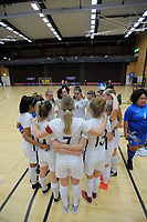 The Futrsal Ferns huddle during the international women's futsal match between the NZ Futsal Ferns and New Caledonia at Baypark Arena in Mount Maunganui, New Zealand on Thursday, 14 September 2017. Photo: Dave Lintott / lintottphoto.co.nz