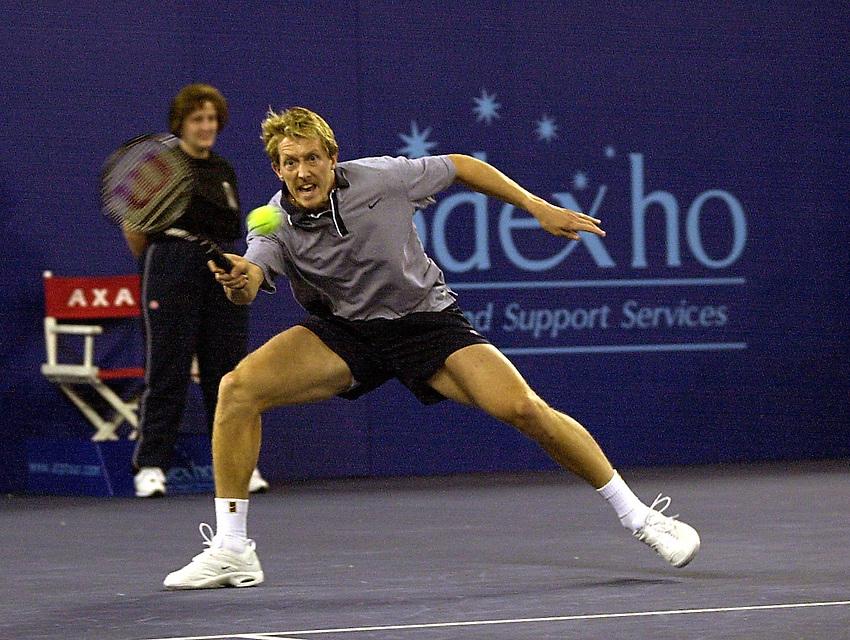Photo:Ken Brown.20.2.2000 York Tennis Challenge.Jonas Bjorkman