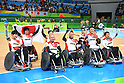 Japan team group (JPN), <br /> SEPTEMBER 18, 2016 - WheelChair Rugby : <br /> 3rd place match Japan - Canada  <br /> at Carioca Arena 1<br /> during the Rio 2016 Paralympic Games in Rio de Janeiro, Brazil.<br /> (Photo by AFLO SPORT)