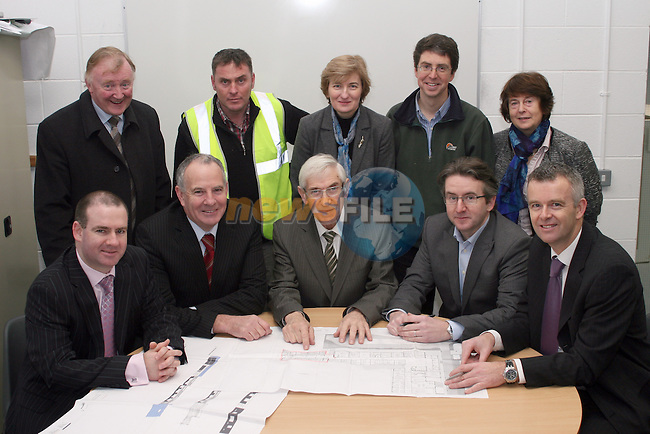 Dan Toole, Principal St.Olivers, Ciaran Farrell, Cunnane and Donaghey Construction,  Aileen Conry, Louth VEC, Matt McDonagh, McGarry Ní Éanaigh, Theresa Stack, Deputy Principal DIFE,  Padraig Kirk, CAO Co.Louth VEC, Oliver Tully, Chairman VEC, Jimmy Mulroy, Chairman Board of Managers, Greg Donaghey, Cunnane and Donaghey Construction and Davey McDonnell, Principal DIFE  at the turning of the first sod on DIFE's new extension...Photo NEWSFILE/Jenny Matthews.(Photo credit should read Jenny Matthews/NEWSFILE)....This Picture has been sent you under the condtions enclosed by:.Newsfile Ltd..The Studio,.Millmount Abbey,.Drogheda,.Co Meath..Ireland..Tel: +353(0)41-9871240.Fax: +353(0)41-9871260.GSM: +353(0)86-2500958.email: pictures@newsfile.ie.www.newsfile.ie.FTP: 193.120.102.198.