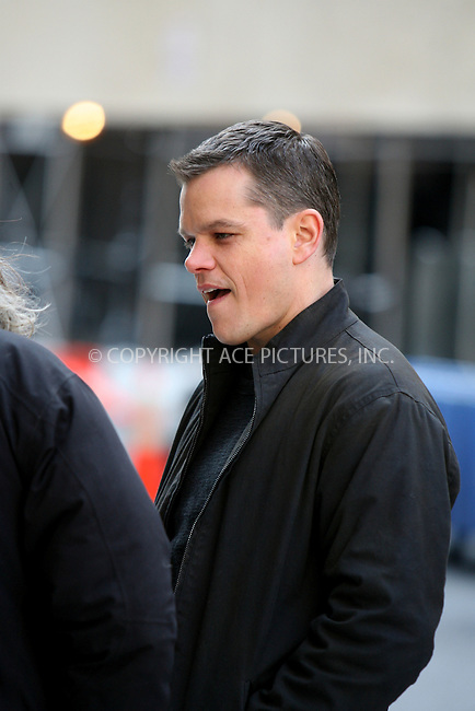 WWW.ACEPIXS.COM ** ** ** ....February 16, 2007, New York City. ....Matt Damon on the movie set of 'The Bourne Ultimatum'. ....Please byline: Philip Vaughan -- ACEPIXS.COM.. *** ***  ..Ace Pictures, Inc:  ..Philip Vaughan (212) 243-8787 or (646) 769 0430..e-mail: info@acepixs.com..web: http://www.acepixs.com
