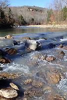 NWA Democrat-Gazette/FLIP PUTTHOFF <br /> Lee Creek flows     Nov. 19, 2015   through the heart of Devil's Den State Park.
