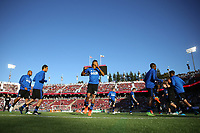 Stanford, CA - Saturday July 01, 2017: San Jose Earthquakes warmup, Anibal Godoy during a Major League Soccer (MLS) match between the San Jose Earthquakes and the Los Angeles Galaxy at Stanford Stadium.