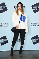 Leah Weller<br /> arriving for the Skate at Somerset House 2017 opening, London<br /> <br /> <br /> ©Ash Knotek  D3351  14/11/2017