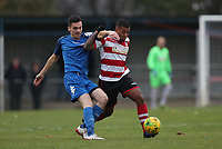 Reece Hall of Kingstonian wins the ball under pressure during Kingstonian vs Lewes, BetVictor League Premier Division Football at King George's Field on 16th November 2019