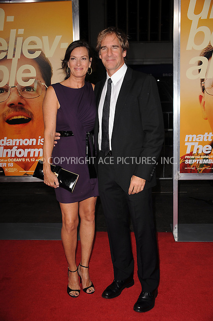 WWW.ACEPIXS.COM . . . . . ....September 15 2009, New York City....Actor Scott Bakula and wife Chelsea Field arriving at the 'The Informant' benefit screening at the Ziegfeld Theatre on September 15, 2009 in New York City.....Please byline: KRISTIN CALLAHAN - ACEPIXS.COM.. . . . . . ..Ace Pictures, Inc:  ..tel: (212) 243 8787 or (646) 769 0430..e-mail: info@acepixs.com..web: http://www.acepixs.com