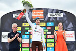 Pierre Roger Latour (FRA) AG2R La Mondiale wins the young riders White Jersey of the 2018 Criterium du Dauphine 2018 at the end of Stage 7 running 136km from Moutiers to Saint Gervais Mont Blanc, France. 10th June 2018.<br /> Picture: ASO/Alex Broadway | Cyclefile<br /> <br /> <br /> All photos usage must carry mandatory copyright credit (© Cyclefile | ASO/Alex Broadway)