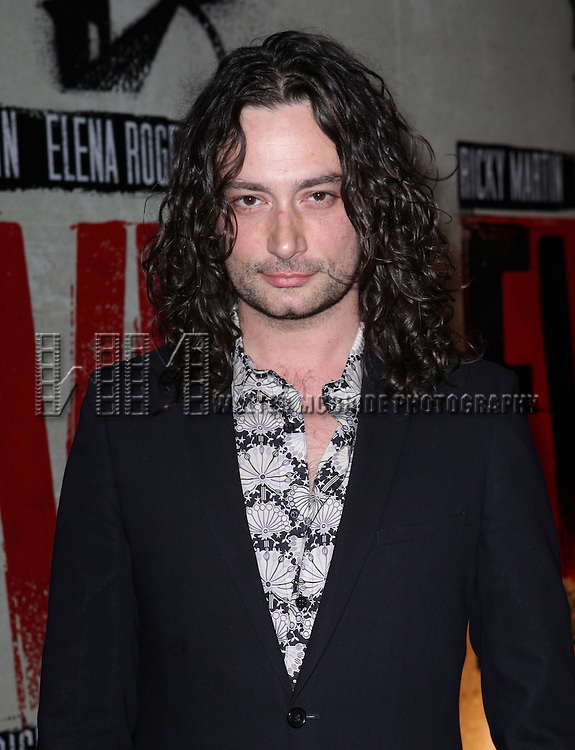Constantine Maroulis.attending the Broadway Opening Night Performance of 'EVITA' at the Marquis Theatre in New York City on 4/5/2012 © Walter McBride / WM Photography