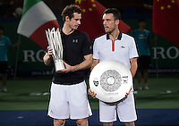 ROBERTO BAUTISTA AGUT (ESP), ANDY MURRAY (GBR)<br /> <br /> TENNIS - ROLEX SHANGHAI MASTERS - QI ZHONG TENNIS CENTER - MINHANG DISTRICT - SHANGHAI - CHINA - ATP 1000 - 2016  <br /> <br /> <br /> <br /> &copy; TENNIS PHOTO NETWORK
