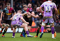 Harlequins' James Chisholm in action during todays match<br /> <br /> Photographer Bob Bradford/CameraSport<br /> <br /> Premiership Rugby Cup Semi Final - Exeter Chiefs v Harlequins - Sunday 2nd February 2020 - Sandy Park - Exeter<br /> <br /> World Copyright © 2018 CameraSport. All rights reserved. 43 Linden Ave. Countesthorpe. Leicester. England. LE8 5PG - Tel: +44 (0) 116 277 4147 - admin@camerasport.com - www.camerasport.com