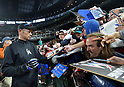 Ichiro Suzuki (Marlins),<br /> APRIL 19, 2017 - MLB :<br /> Ichiro Suzuki of the Miami Marlins signs autographs for fans before the Major League Baseball game against the Seattle Mariners at Safeco Field in Seattle, Washington, United States. (Photo by AFLO)