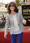Sally Field Honored with a Hollywood Walk of Fame Star in Los Angeles CA. May 5, 2014.