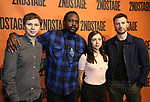 Michael Cera, Brian Tyree Henry, Bel Powley and Chris Evans backstage at  the Second Stage Theater Broadway lights up the Hayes Theatre at the Hayes Theartre on February 5, 2018 in New York City.